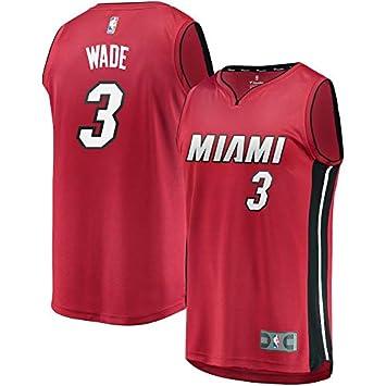 VVACNBA NBA Miami Heat Dwyane-Wade 3 Fan Men Jersey (Rojo, XXL): Amazon.es: Deportes y aire libre