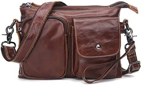 革男性のショルダーバッグクロスボディ多機能の男性のバッグ