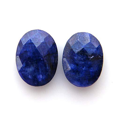 Surbhi Crafts Blue Sapphire Beryl Cabochon Pair 15.50ct Oval Shape Blue Beryl 16x12x4.5mm, K-3885 by Surbhi Crafts