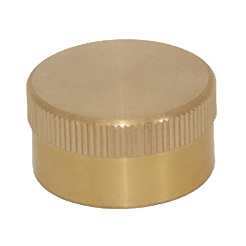 Flameer 24mm Dia. Solid Brass 1LB Propane Gas Cylinder Tank Bottle Cap/Cover Camping BBQ