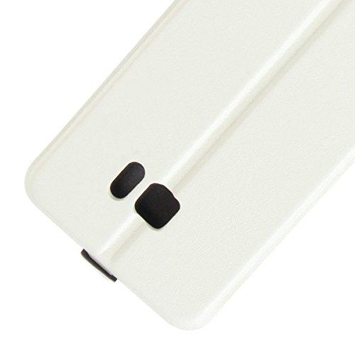 Para HTC U Ultra / HTC OCEAN NOTE Caso compacto de piel PU, arriba-abajo piel abierta PU Funda de piel con ranura para tarjeta y función de protección completa con cierre magnético Caja a prueba de go Blanco