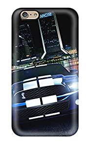 Premium Tpu Muscle Cars Metal Cover Skin For Iphone 6(3D PC Soft Case)