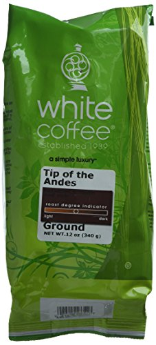 White Coffee Ground Coffee, Tip of The Andes, 12 - Andes Coffee