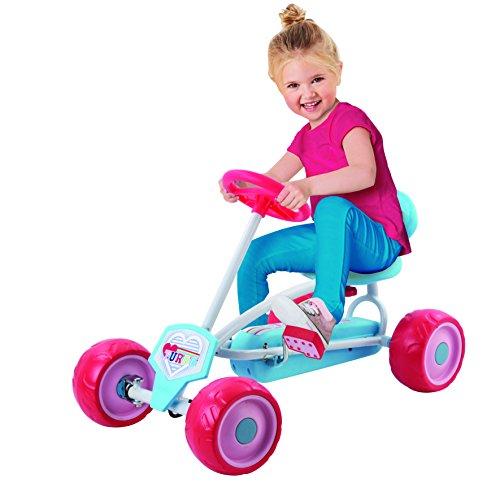 Hauck Lil'Turbo Pedal Go Kart, Blue/Pink