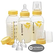 Medela 8 Oz Breastmilk Bottle Set WITH Six Medium-Flow Wide Base Nipples