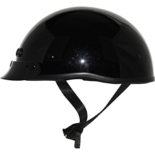 Price comparison product image ZOX Unisex Adult Mikro Custom Gloss Black Half Helmet Z88-00662