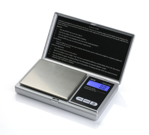 American Weigh Scales Signature Series Silver AWS-600-SIL Digital Pocket Scale, 600 by 0.1 G by American Weigh Scales