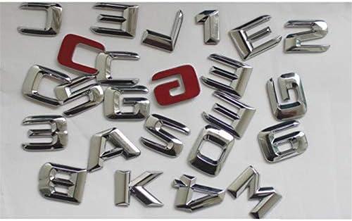 per bagagliaio posteriore A45 A180 A200 A220 A250 V8 BITURBO AMG 4MATIC numero lettere Adesivo 3D cromato