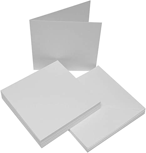 10 x 7x7 Cream Card Blanks With White Envelopes