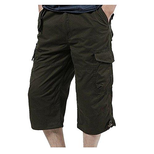 de cortos Pantalones suelta con para m de redondos Pantalones Temporada Adeshop hombres cintura verano SqA6wPfq5