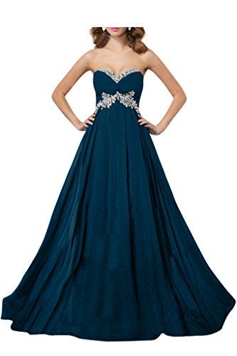 Damen Tintenblau Abendkleid Linie Ivydressing Lang Chiffon A fRd6O0