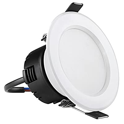 LE 4W 3-Inch LED Recessed Lighting, 30W Halogen Bulbs Equivalent, Not Dimmable, 210lm, Daylight White, 6000K, 90° Beam Angle, Recessed Ceiling Lights, Recessed Lights, LED Downlight