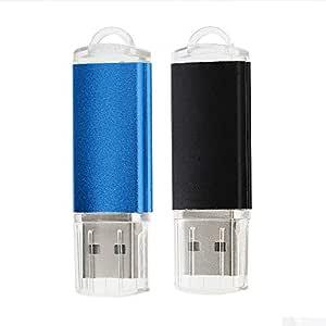 Memoria USB 16GB [2 Unidades] Flash Drive USB 2.0 Pen Drive USB Stick 16 GB con Llavero Colgante para computadoras, tabletas y Otros Dispositivos