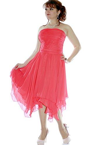 amp; Abendkleid Damen 635111720242 Juju Koralle Größe Cocktail Farbe 36 Christine Tqfdf6Zw