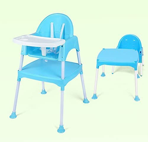 SZ5CGJMY Quality 3 in 1 Multi Baby High Chair Feeding seat with Play Table & Harness Removable highchair Toddler Desk wBelt (Blue)