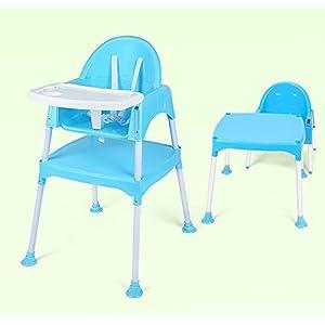 Chaise haute pour bébé 3 en 1 SZ5CGJMY® - Chaise pour repas avec harnais et table de jeu 8