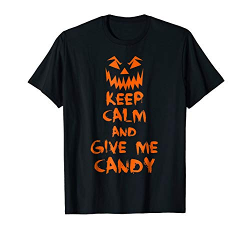 Keep Calm And Give Me Candy Halloween Skull Bones Adults & K -