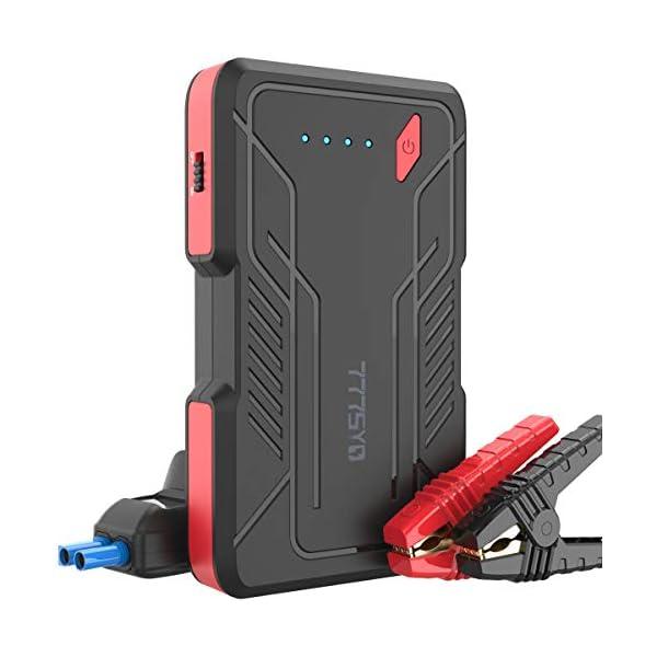 777SYD 800A Peak Car Battery Jump Starter Kit Ultrasafe Portable Car Starter Pack with PD USB-C Charging Ports, 12V Auto Portable Jump Starter for Up to 4.0L Gasoline 3.0L Diesel Engine