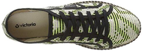 Plataforma Basket Unisex Adulto Geometrico Zapatillas Verde de Blanco Victoria Deporte Yute PBEqdPw
