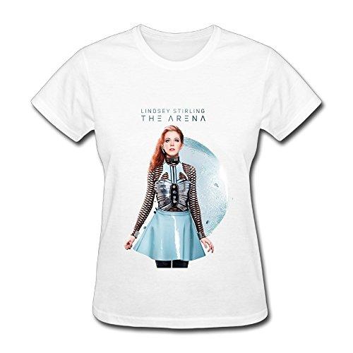 Lindsey Stirling Brave Enough Tour Poster Women T Shirt White