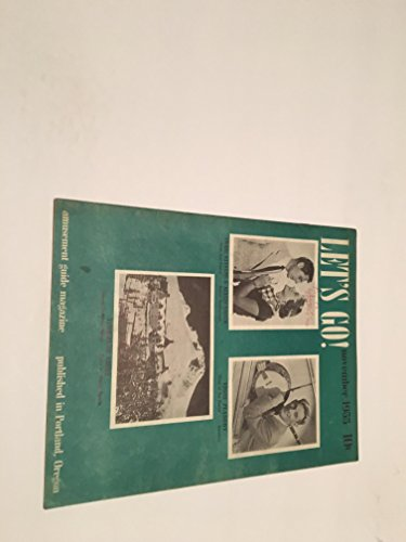 LET'S GO NOVEMBER 1955 ENTERTAINMENT BOOK PORTLAND OREGON