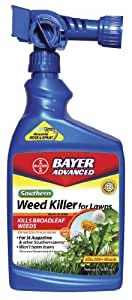 Bayer Advanced 704090A Southern Weed Killer for Lawns Ready-to-Spray, 32-Ounce