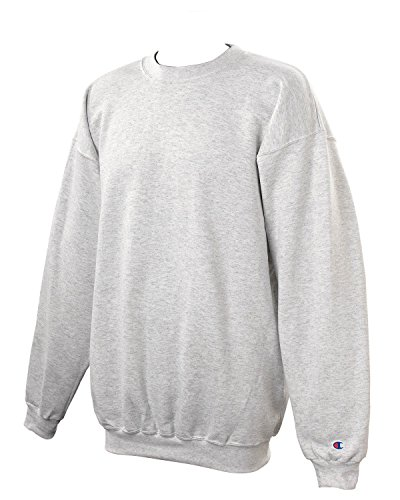 Champion Crew Sweatshirt (Champion Adult 50/50 Crewneck Sweatshirt, Ash - Size Medium)
