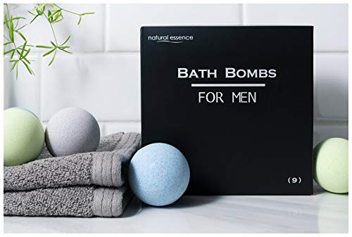 Men's Bath Bomb Gift Set of 9 by Natural Essence