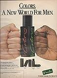 MAGAZINE AD For Benetton Colors For Men: Fist