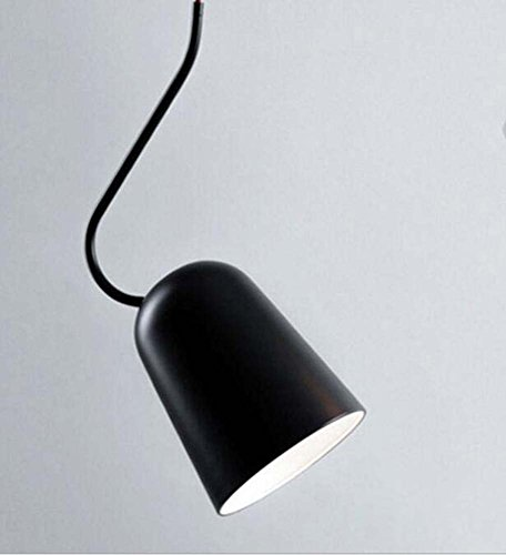 (Onfly Postmodern Minimalist Pendant Lamp Single Head 45° Adjusted Chandelier Dining Room/bedroom/study/bedside Hanging Lamp Indoor Deco Lights(without Bulb) (Color : Black, Size :)