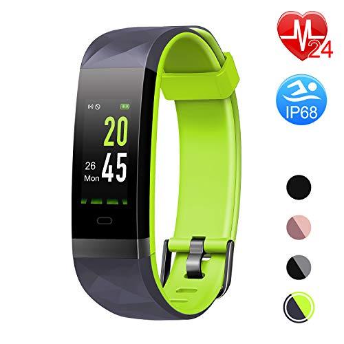 Letsfit Fitness Tracker HR, Color Screen Heart Rate Monitor Watch, Smart Activity Tracker Watch, IP68 Waterproof, Step Calorie Counter, Sleep Monitor, Pedometer Watch for Women Men - Sleep Tracker Activity