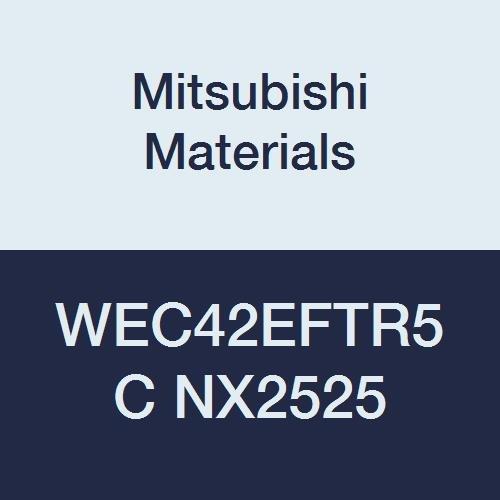 Chamfer Honing Mitsubishi Materials WEC42EFTR5C NX2525 WEC Series Cermet Milling Insert Grade NX2525 Wiper Uncoated Class E 0.039 Corner Radius 0.125 Thick Pack of 10