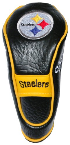 Team Golf NFL Pittsburgh Steelers Hybrid Golf Club Headcover, Velcro Closure, Velour lined for Extra Club ()