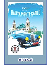 """MONTE CARLO: Journal with Lined pages - Cover reproduction of retro vintage Monte Carlo aadvertising poster - 6"""" x 9"""" paperback"""