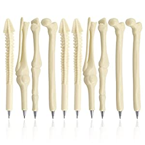 PIXNOR - Bolígrafos con forma de hueso para enfermera, doctor, técnico de rayos X, tinta azul, Paquete de 10 12