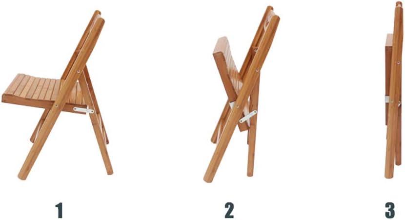 Zzzy 100% Natural bambú Silla Plegable (Juego de 4) VersÁtil ...