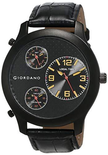 GIORDANO Analog Black Dial Men's Multi Time Watch – 60068 TTM