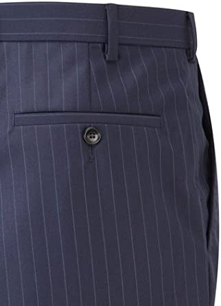 Austin Reed Contemporary Fit Navy Stripe Trousers Amazon Co Uk Clothing