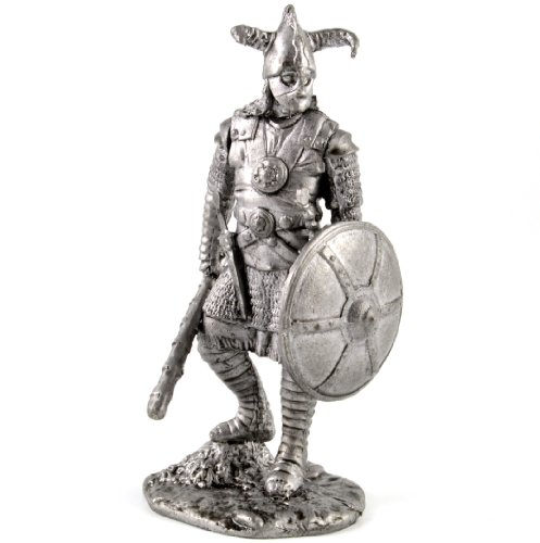 Tin toy soldiers. Persian Sassanid dynasty warrior 4-6th century metal sculpture. Collection 54mm (scale 1/32) miniature figurine