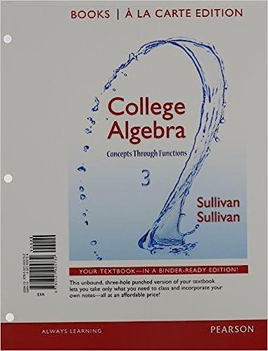 College Algebra: Concepts Through Functions, Books a la Carte ...