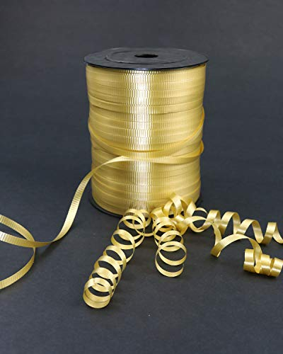 GIFTEXPRESS 500 yards Gold Curling Ribbon for Balloon Ribbon, Balloon String, Gift Wrapping Supplies, Party Decorations, Art Crafts