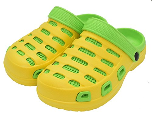 Pareja Mujer EVA Sandalias de para Zapatos Jardín Kemosen Hombres Ultra Amarillo Chanclas Unisex Ligeras Zapatillas Playa WwqHSYaO