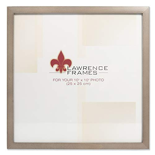 Lawrence Frames 10x10 Gray Wood Gallery Collection Picture Frame