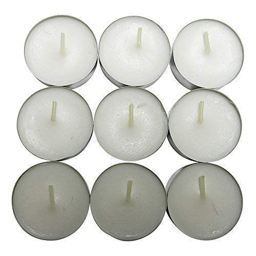 CandleNScent Unscented Tealight Candles 100 Pack-White Made in USA