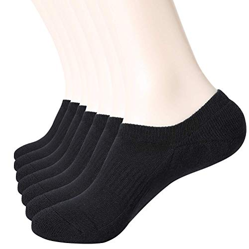 - WANDER Cushion No Show Socks Mens 7 Pairs Low Cut Ankle Sock For Men&Women Fit Size 6-12