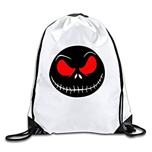 MAIQU Skull With Red Eyes Gym Sack Bag Drawstring Backpack Sport Bag