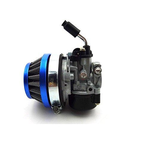 TC-Motor Racing Carb Carburetor + Air Filter 58mm Blue For 2 Stroke 49cc 50cc 60cc 66cc 80cc 2 Stroke Engine Gas Motorized Bicycle Push Bike (49cc Racing Carburetor compare prices)