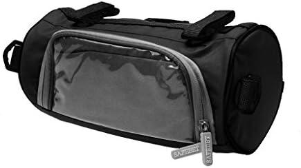 T TOOYFUL 黒のラウンドタッチスクリーン付き自転車の携帯電話ポーチのハンドルバーバッグ