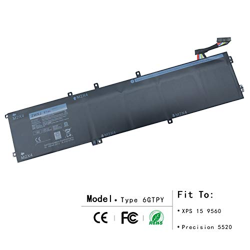 ZWXJ New Laptop Battery Type 6GTPY(11.4V 97WH) For Dell XPS 15 9560 Precision 5520 M5520 5XJ28 6GTPY by ZWXJ (Image #3)