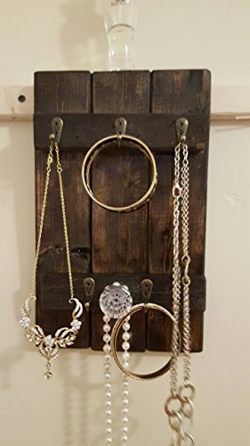 Re-Purposed Wood Shutter Style Jewelry Holder/Organizer